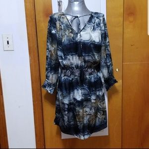 *NWOT* Aryn K. animal print tie neck dress